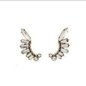 Jewelry - Crystal ear jacket earrings